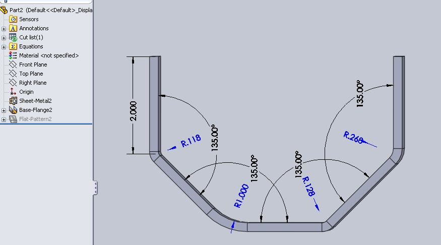 sheet metal bending calculation