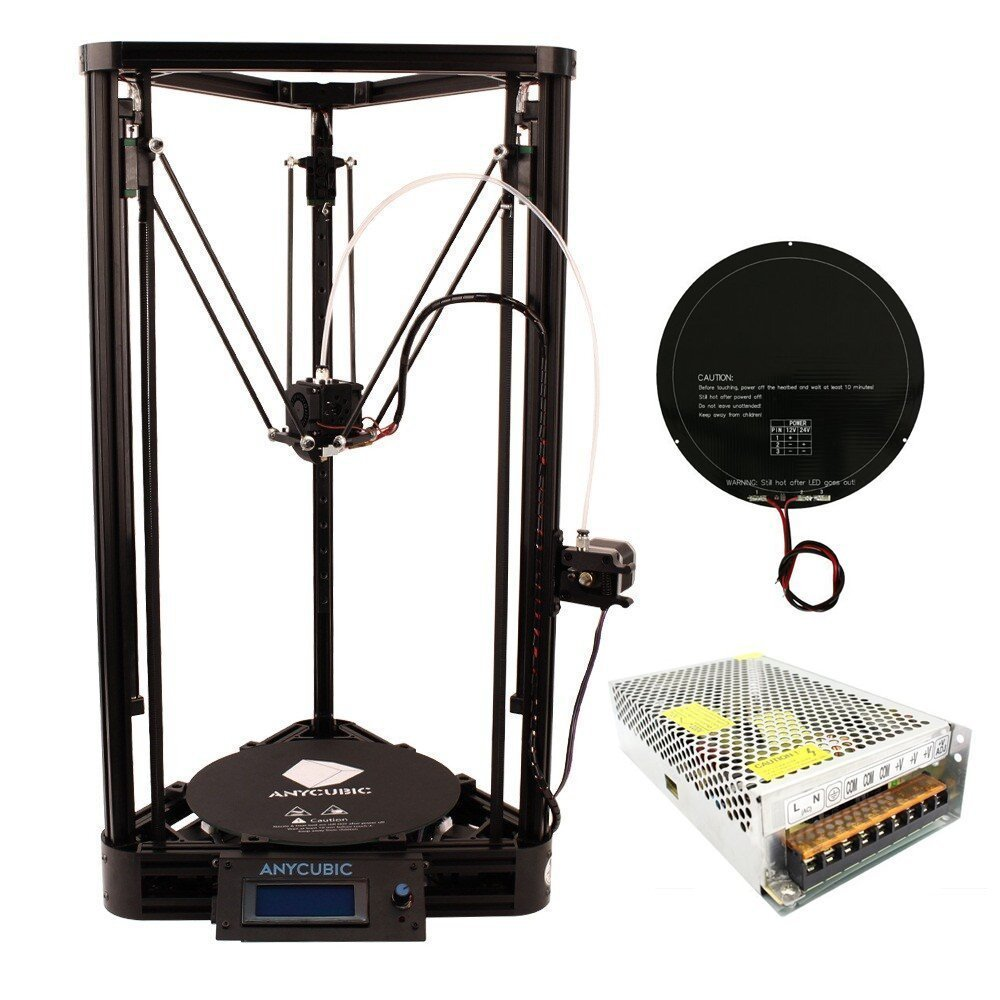 Anycubic Linear Plus Delta Rostock 3D Printer Review - 3D Engineer